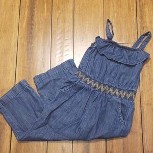 Cat & Jack Denim Jumpsuit NWOT